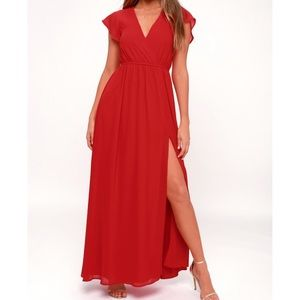 Lulus red maxi dress